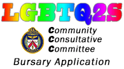 LGBTQ2S Bursary Application graphic